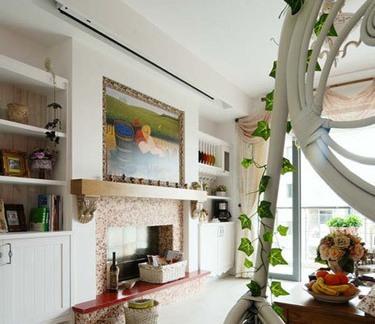 田园风格室内电视背景墙设计