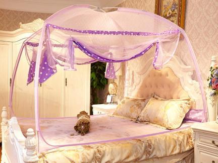 女生卧室蒙古包蚊帐效果图