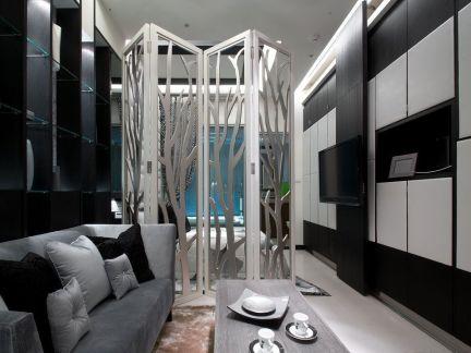 小公寓客厅卧室隔断效果图