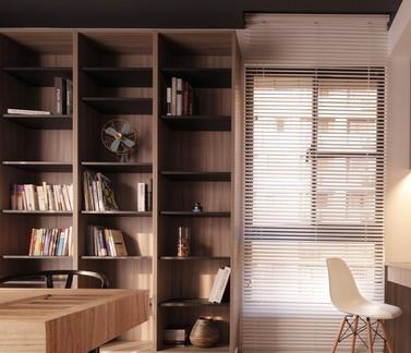 2017墙上书架设计图 房天下装修效果图