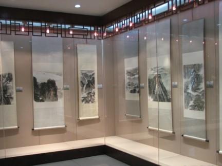 书画展厅设计展柜图片图片