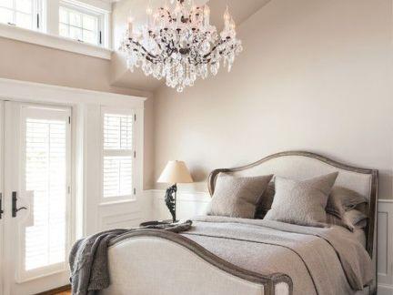 温馨欧式卧室水晶吊灯图片