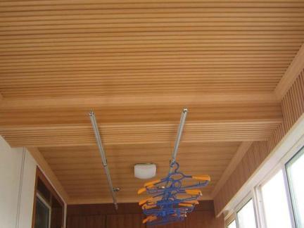 室内阳台木吊顶设计图片欣赏
