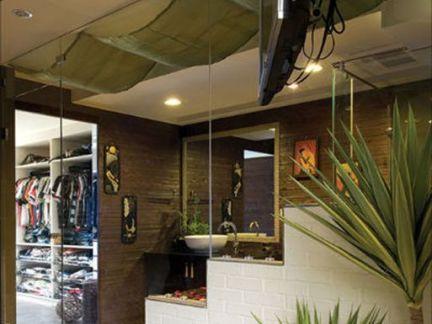 美式家装楼梯间吊顶图片