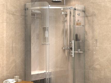 卫生间玻璃淋浴房效果图