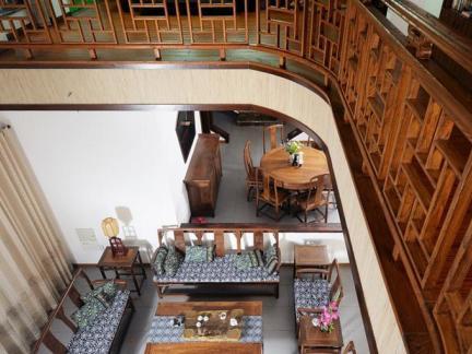 中式挑空客厅家居图片