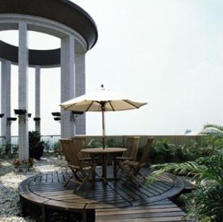 梁景华作品--广州东湖御苑顶层复式豪宅室外凉亭