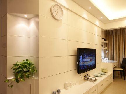 简约时尚室内电视背景墙效果图