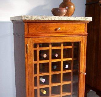 简中式家装实木酒柜