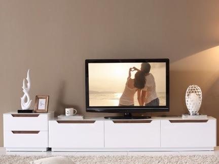 白色组合电视柜图片