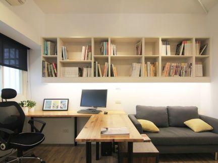现代小公寓书房效果图