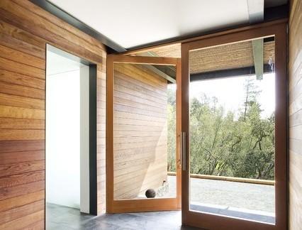 别墅有框玻璃门拉手图片