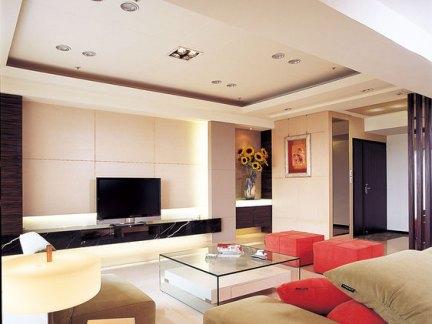 现代客厅天花板吊顶装修