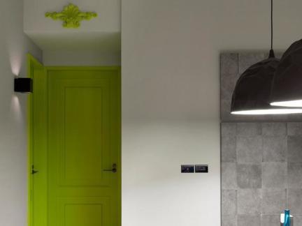 绿色室内套装门图片