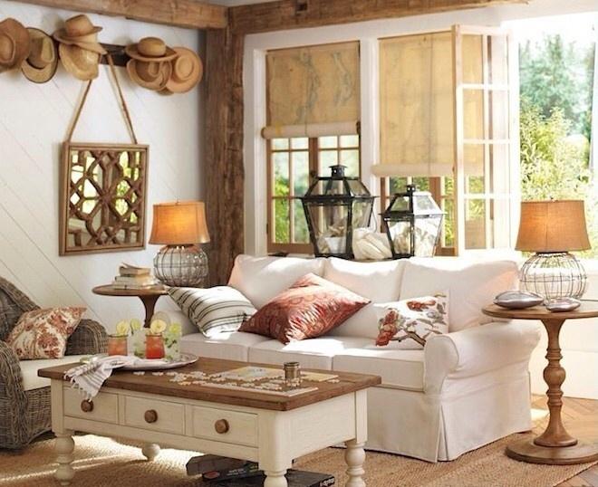 美式客厅仿古地砖装修效果图