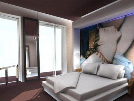 宾馆室内背景墙装修图片欣赏