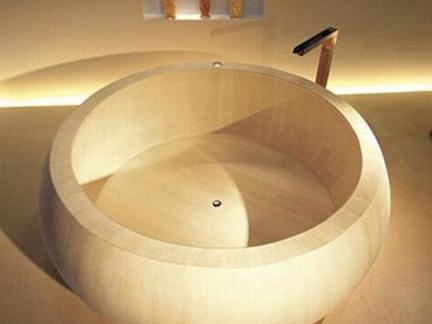 圆形木浴缸设计图片