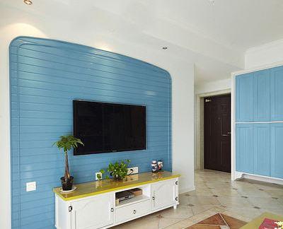 地中海风格客厅电视背景墙图片欣赏大全