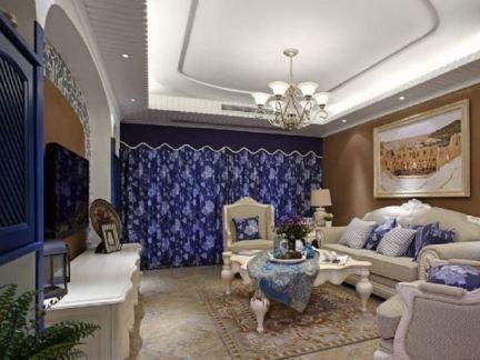 地中海风格四室两厅家装效果图大全