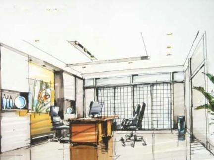 30平米办公室手绘墙