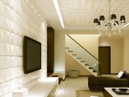 现代客厅容声集成吊顶图片大全