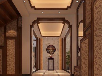 中式室内走廊装修效果图图片