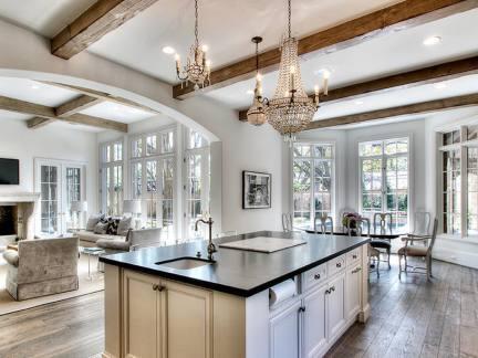 2017豪华美式厨房装修-房天下装修效果图图片
