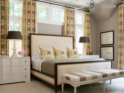 卧室家居窗帘布艺装修效果图
