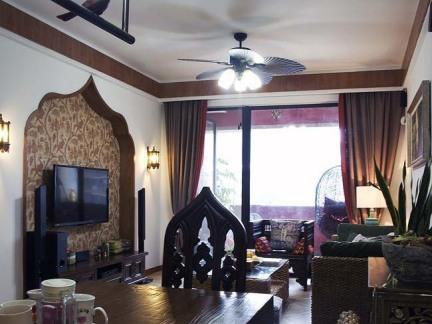 东南亚家居餐厅家具摆放图片