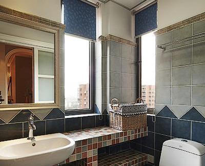 美式复古马赛克卫生间设计装修效果图-2018卫生间马赛克效果图 房天