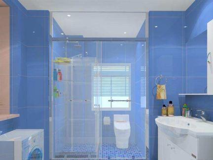 家用卫生间玻璃马赛克图片欣赏-2018家用整体卫生间效果图 房天下装