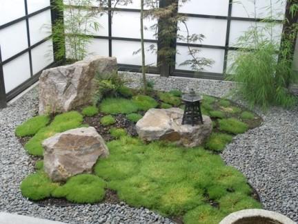日式中庭庭院绿化装修