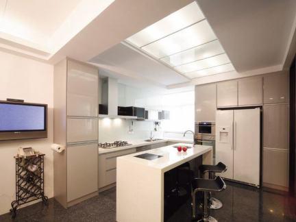 现代大宅厨房整体装修展示