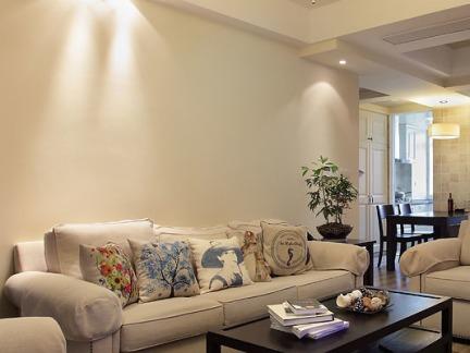 美式简约客厅设计图