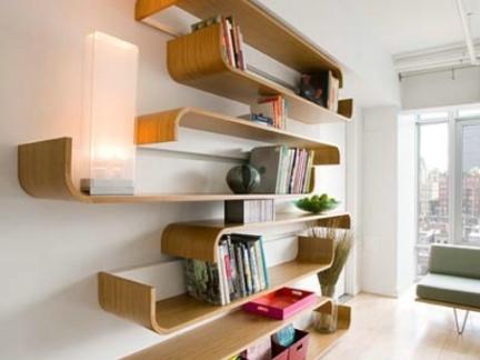 墙面书架设计图 (432x324)-书房墙上书架图片
