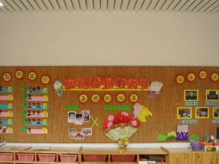 幼儿园教室墙面装饰图片欣赏-2018幼儿园纸袋子装饰图片 房天下装修