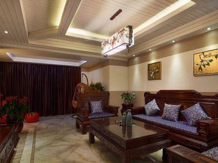 中式家庭装修效果图吊顶图片