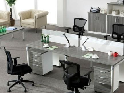 现代简约屏风隔断办公桌设计