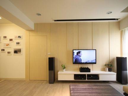 家庭装修设计客厅电视背景墙效果图2014