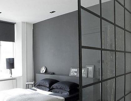 卧室玻璃隔墙效果图欣赏