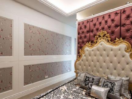 欧式古典卧室床头软包背景墙图