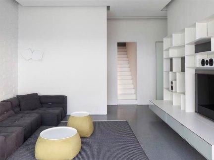 简约日式风格小客厅电视背景墙图片