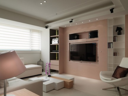 简约时尚客厅电视背景墙大全