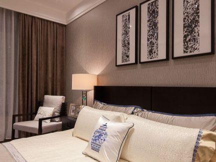日式家庭设计卧室床头背景墙图片