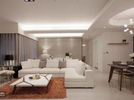 白色简约风格室内设计图