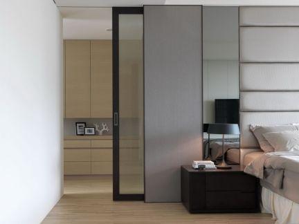 时尚现代家装卧室隔断门图片