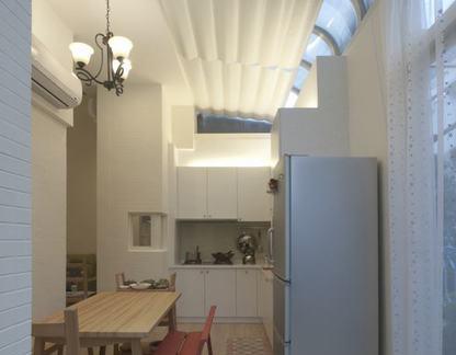 20平米简约小平米客厅餐厅一体装修效果图