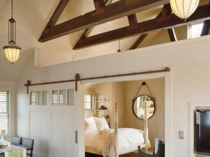房屋客厅与卧室隔断装修效果图