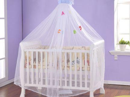 欧式实木婴儿蚊帐床