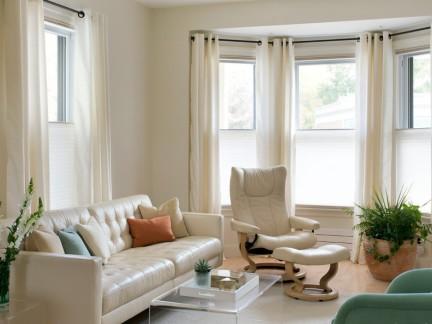 简约设计装饰客厅窗帘效果图